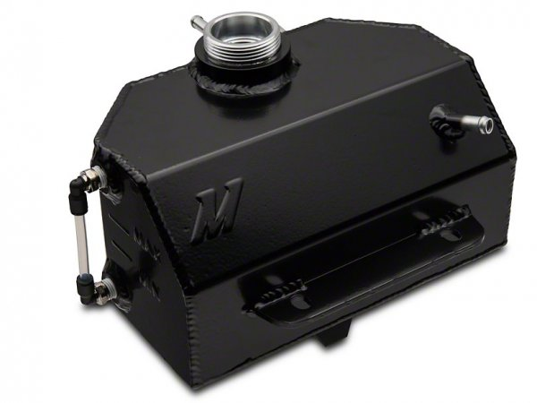Mishimoto Aluminium-Kühlmittelbehälter - Schwarz (15-21 GT, EB V6) MMRT-MUS-15EBK