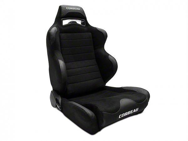 Corbeau LG1 Racing Sitz - Breit - Schwarz Microsuede - Paar (79-20 All) S25501W x2