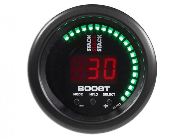 Auto Meter Stack Boost Controller Anzeige - Schwarz (79-20 All) ST3412