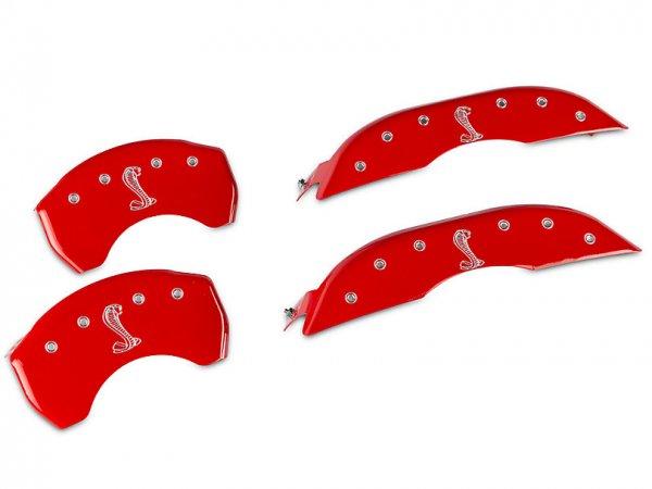 MGP Red Bremssattelabdeckungen mit Tiffany Snake Logo - vorne und hinten (15-21 Standard GT) 10200SSNKRD