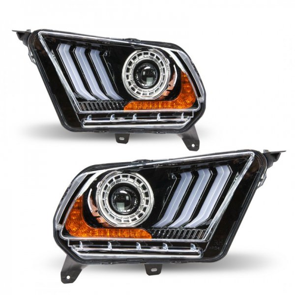 Winjet S550 Style Scheinwerfer mit LED Tagfahrlicht und sequentiellen Blinkern (10-14 All) CHRNG-0612-B-SQ
