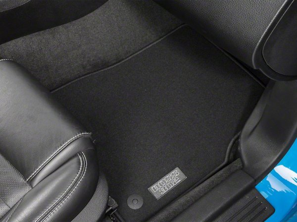 Ford Fußmatten mit Boss 302 Logo vorne - Schwarz (13-14 All) CR3Z-6313086-AB