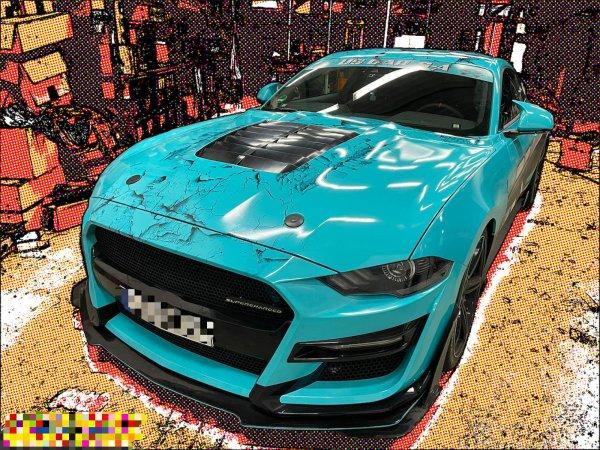 AMPP GT500 Style Aluminium/ABS Motorhaube (18-21 All)