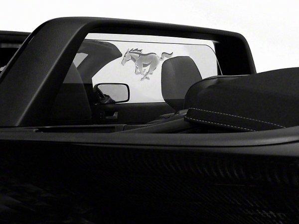 SpeedForm Laser gravierte Windabweiser mit Beleuchtung und Pony Logo (05-09 Cabrio)