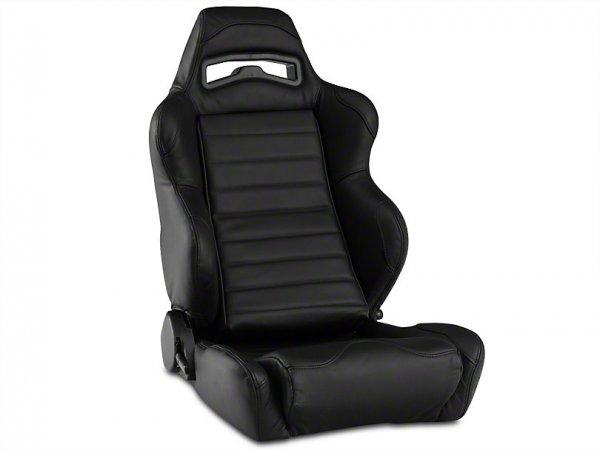 Corbeau LG1 Racing Sitz - Schwarzes Leder - Paar (79-20 All) L25501