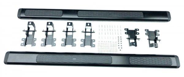 Seitenstufen aus Aluminium - Strukturiert Schwarz (WRANGLER 18-21 JL 4-türig)
