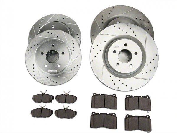 Power Stop-Z26 Street Warrior Bremsscheibe & Platten Kit - vorne und hinten (11-14 GT Brembo) K4148-26