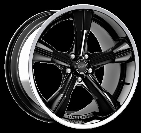 Shelby CS11 Felge 20 Zoll - Black mit polierter Lippe (05-20 All) Z92-CS11-B