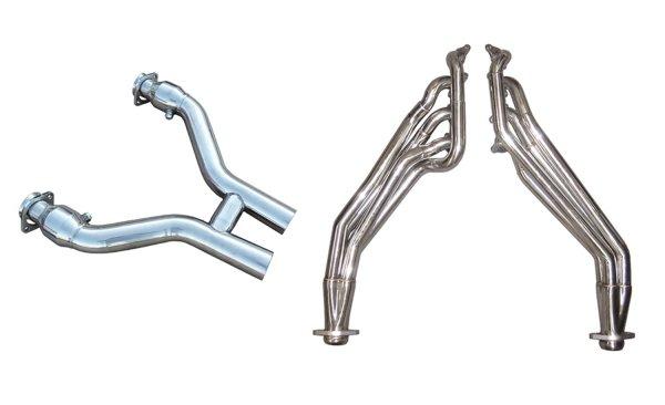 Pypes H-Pipe mit Fächerkrümmer Edelstahl (11-14 GT) HDR76SK-3
