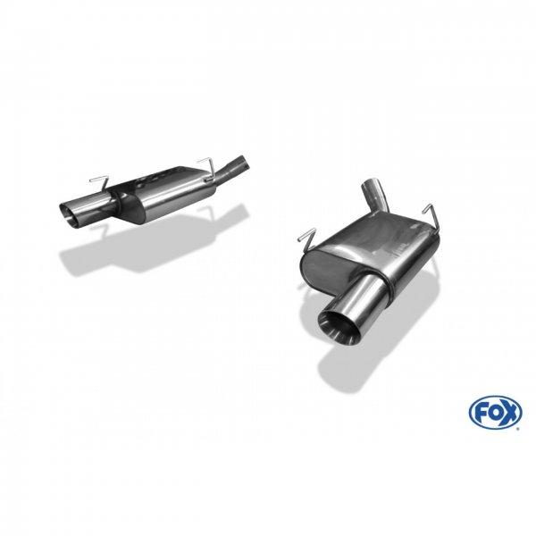 FOX Endschalldämpfer rechts/links - 1x100 Typ 25 rechts/links (05-10 GT) FO140003-293
