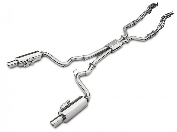 X-Force 1-7 / 8 x 3 in. Varex Long Tube Catted Headers mit Cat-Back Auspuffanlage (15-17 GT) FM15-VMK-EBS