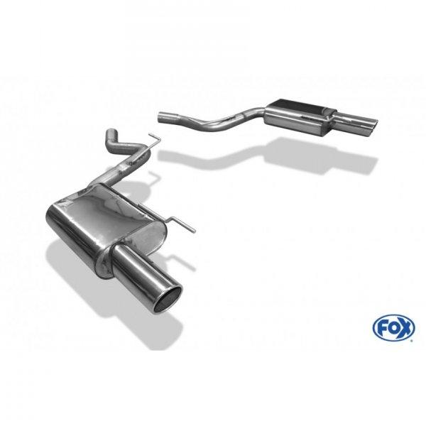 FOX Endschalldämpfer rechts/links - 1x100 Typ 16 rechts/links (15-20 GT, V6) FO141003-133