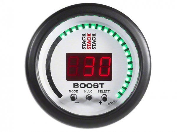 Auto Meter Stack Boost Controller Anzeige - Weiß (79-21 All) ST3462