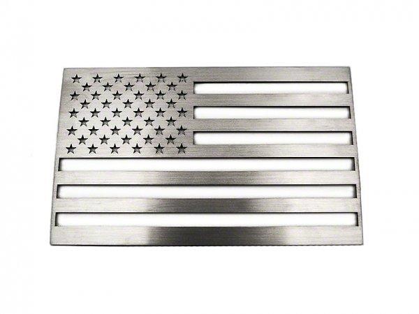 ACC Edelstahl American Flag Emblem - gebürstet (79-21 All) 142021