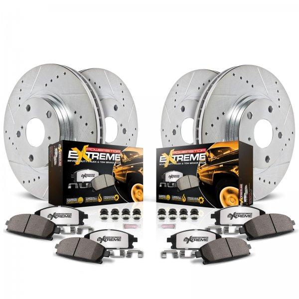 POWER STOP Z36 Bremskit vorn & hinten (02-19 RAM 1500) K2164-36