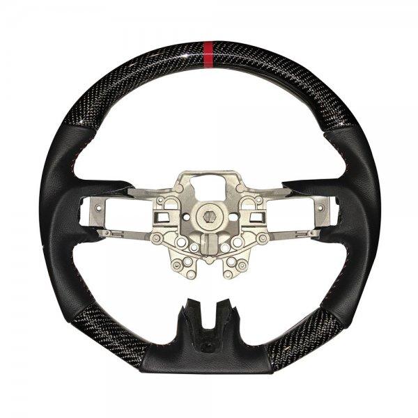 Leder / Carbon Lenkrad mit roten Nähten (15-17 All) M-3600-M350R