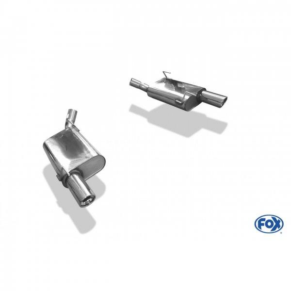FOX Endschalldämpfer rechts/links - 1x100 Typ 17 rechts/links (05-10 GT) FO140003-153