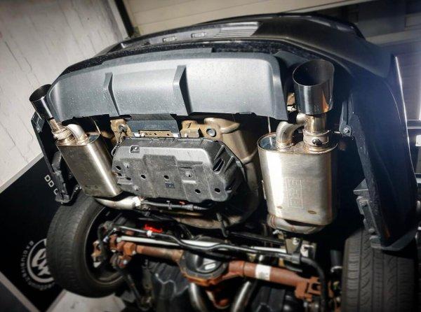 BCE 3 Zoll Edelstahl Klappen Abgasanlage nach EG 540 inkl. Montage (11-14 GT)