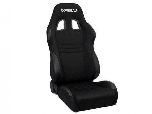 Corbeau A4 Sitz - Breit - Schwarz - Paar (79-20 All) 60091W
