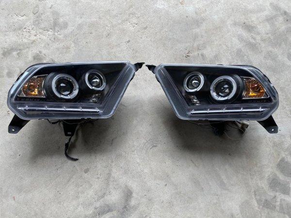 Axial Dual-Halo-Scheinwerfer schwarz - LED - gebraucht (10-12 GT, V6)
