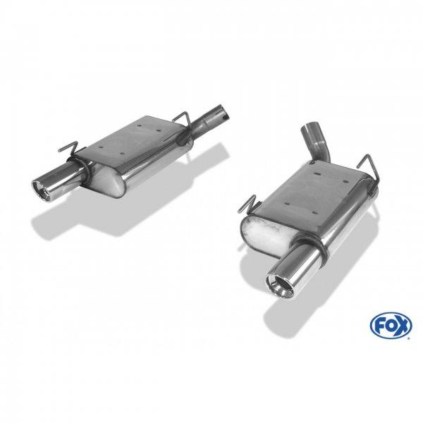 FOX Endschalldämpfer rechts/links - 1x90 Typ 17 rechts/links (05-10 GT) FO140003-151