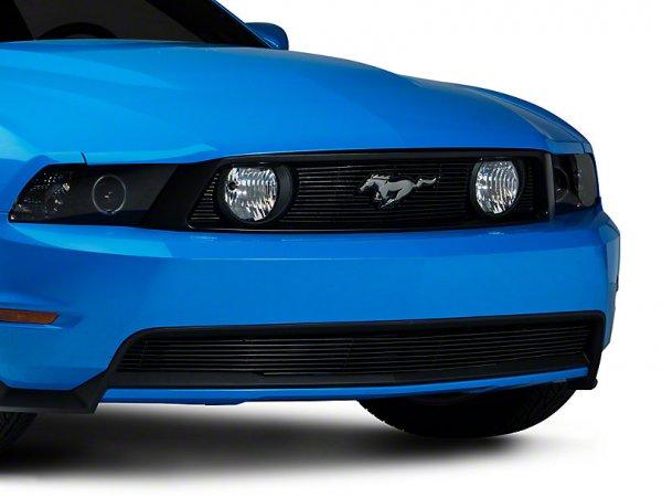 Moderner Schwarzer Mustang Grill - Billet (10-12 GT) 17084