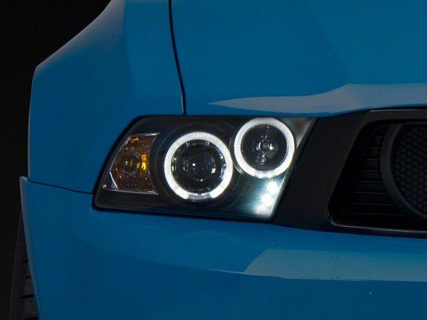 Axial Dual-Halo-Scheinwerfer schwarz - LED (10-12 GT, V6) 102565