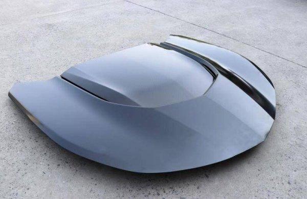 IK ZL1 Style Aluminium Haube - schwarz glänzend (CAMARO 16-21)