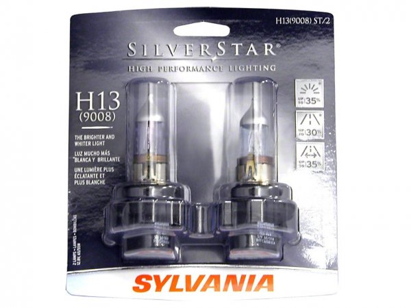 Sylvania Silver Scheinwerfer-Birnen - H13 (05-12 All) H13ST BP2