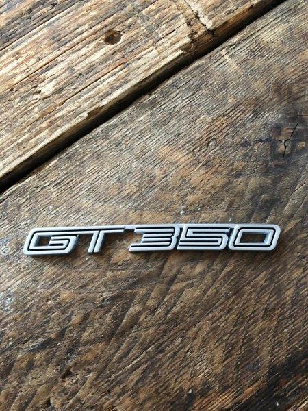 GT350 Emblem silber Chrom Metall