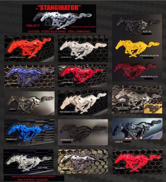 "Running Pony ""Stanginator"" Handmade Emblem (05-21 All)"