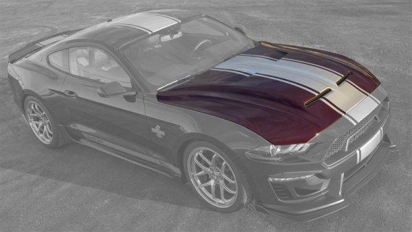 Shelby Super Snake Haube mit Vents (18-20 GT, V6, EB) 18SSHOOD