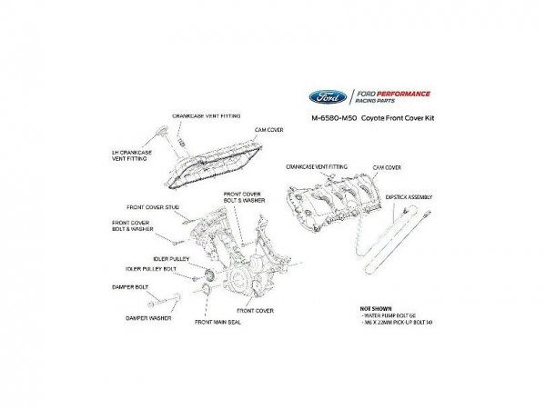 Ford Performance 5.0L Coyote Front- & Cam-Cover-Kit (11-17 GT) M-6580-M50