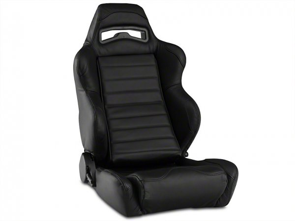 Corbeau LG1 Racing Sitz - Schwarzes Leder - Paar (79-21 All) L25501