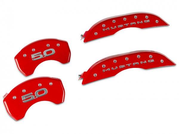 MGP Red Bremssattelabdeckungen mit 5.0 Logo - vorne und hinten (15-21 Standard GT) 10200SM52RD