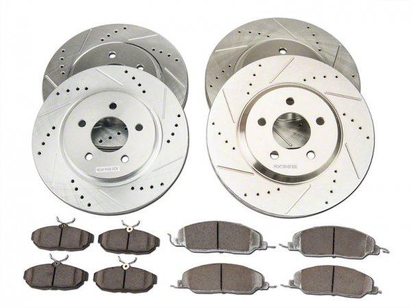 Power Stop Z26 Street Warrior Bremsscheibe & Bremsbelagsatz vorne & hinten (05-10 GT) K1381-26