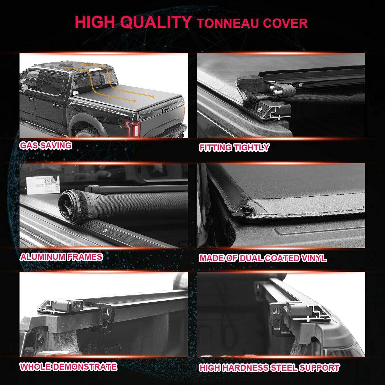 Tonneau Cover Vinyl Roll Up Cover 6 4ft Black 02 18 Ram 1500 2500 3500 American Horsepower En Us Car Parts