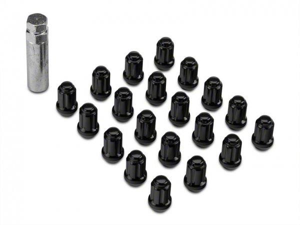 Schwarze Radmuttern inkl. Schlüssel (15-20 All)